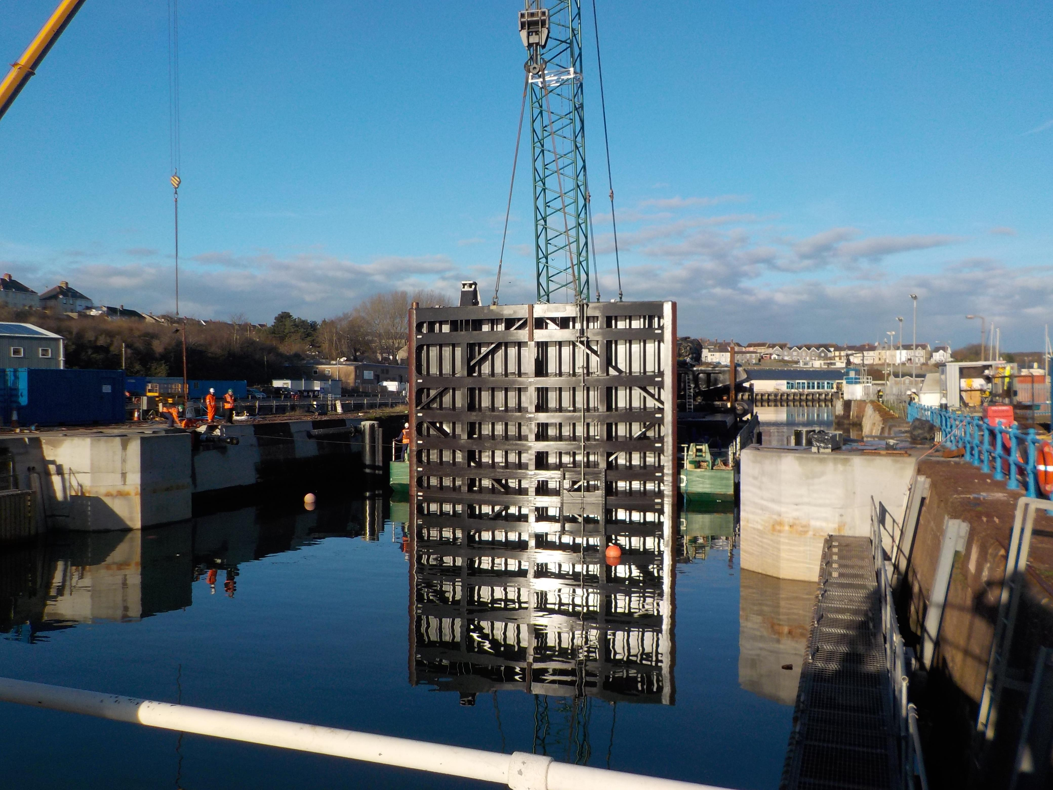 New mitre lock gates for Milford Haven